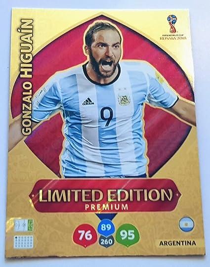 Cromo ADRENALYN XL, Mundial FIFA de fútbol de Rusia 2018; cromo de edición limitada con imagen de Gonzalo Higuaín, Argentina: Amazon.es: Deportes y aire libre