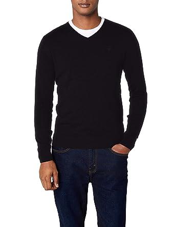 aa3d627e0c98e1 Tom Tailor Men's Basic V-Neck Sweater Jumper: Amazon.co.uk: Clothing