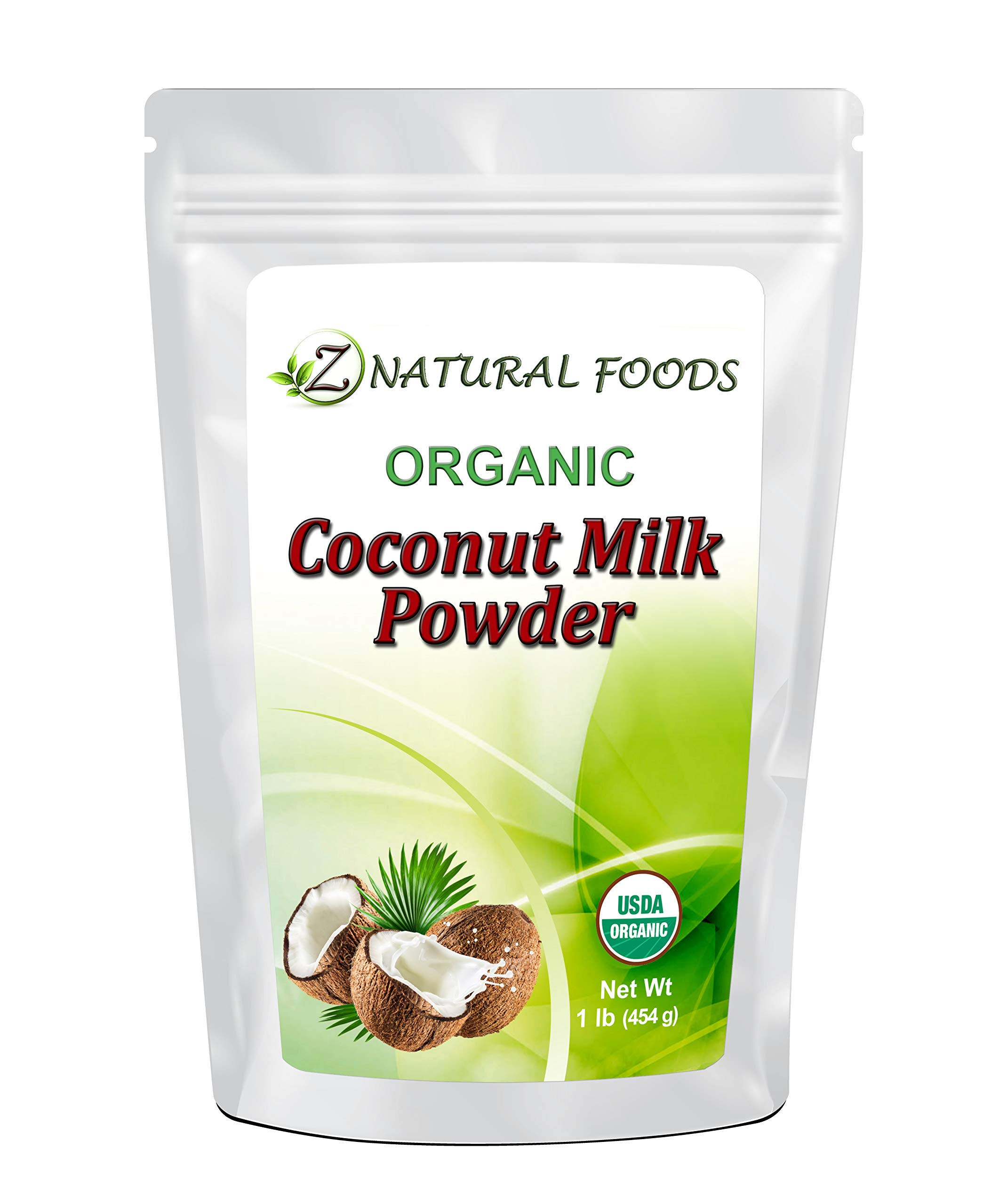 Z Natural Foods - Organic Coconut Milk Powder - Kosher, Vegan, Fresh, Gluten Free, All-Natural, Dairy Free, Non-GMO, Keto, Paleo Diet Friendly (1 lb) by Z Natural Foods