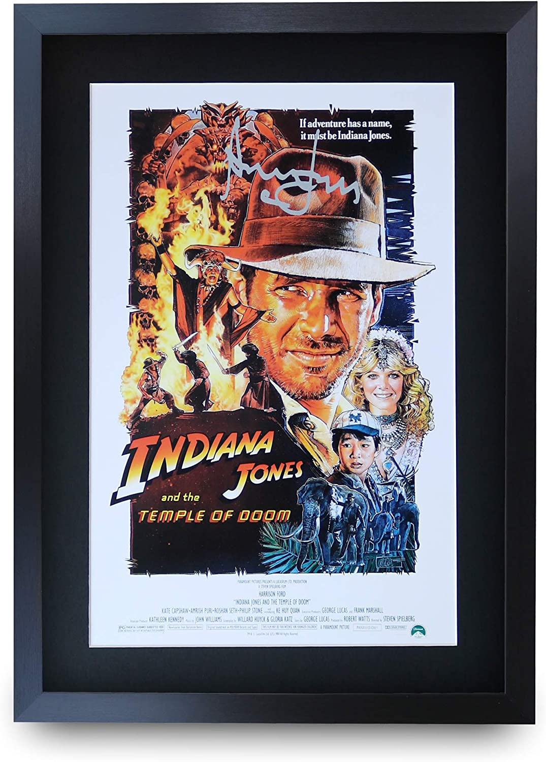 Harrison Ford Indiana Jones Signed Autographed A4 Poster Photo Print Memorabilia