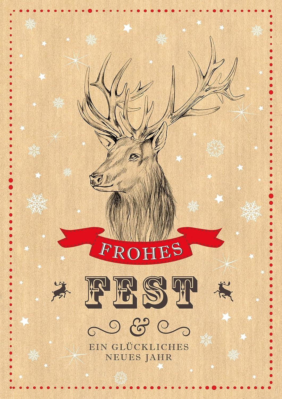 """Sympathisch Edle Weihnachtskarten Basteln Das Beste Von Erhältlich Im 1er 4er 8er Set: """"frohes"""