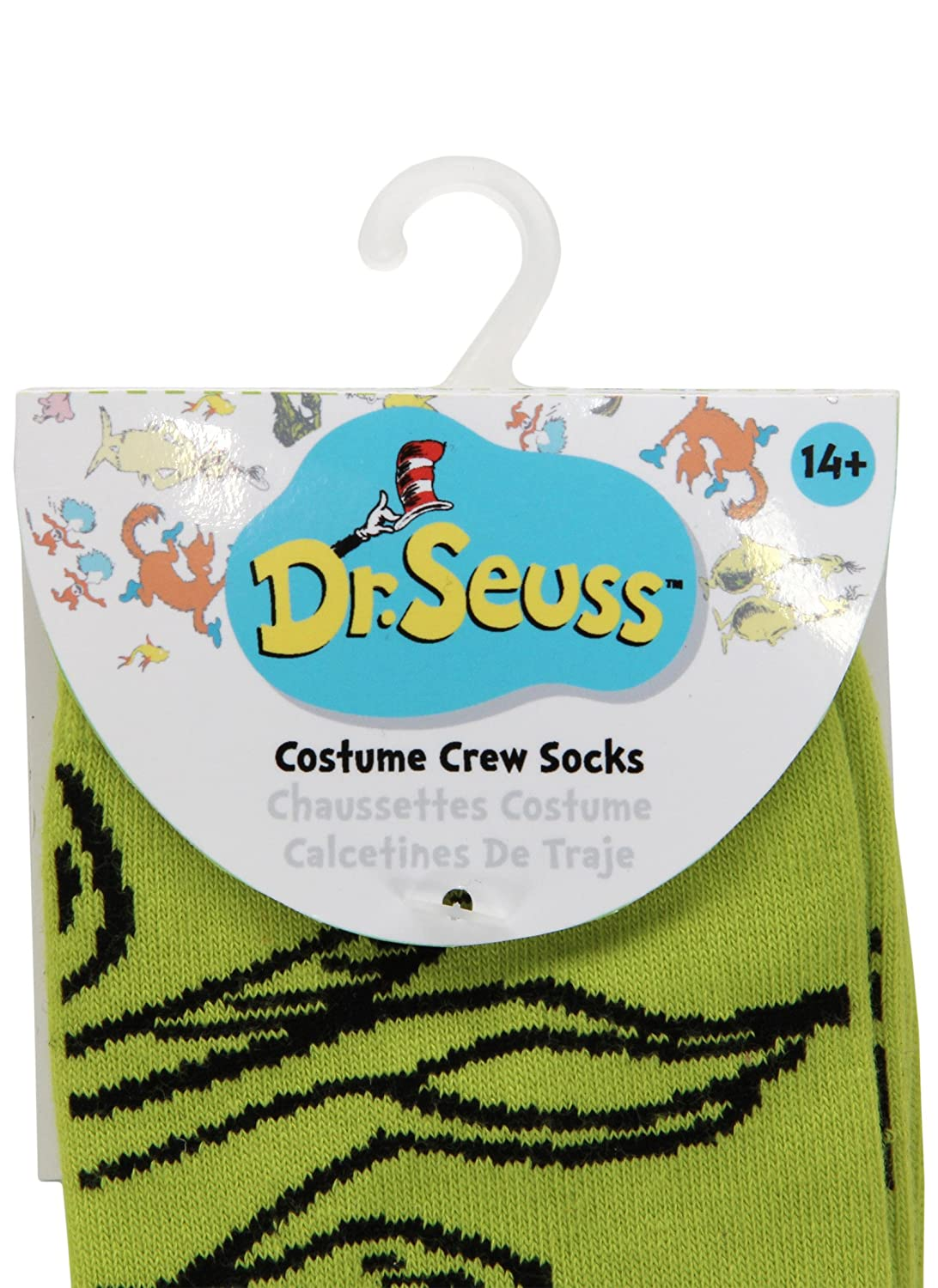 Amazon.com: elope Dr. Seuss Grinch Christmas Costume Crew Socks: Clothing