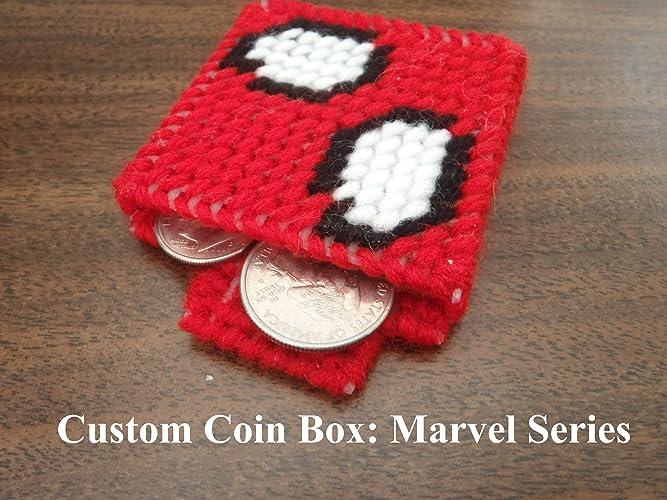 Amazon com: Custom Coin Box, Plastic Mesh: Marvel Icons: Handmade