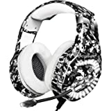 Gaming Headset for PS4, Xbox One Headset with 7.1 Surround Sound Stereo, Noise Cancelling Mic, Memory Foam Ear Pads, LED…