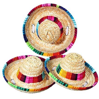 tienda de descuento mejor coleccion compras Sombrero mexicano de 3 piezas para mascotas, sombreros de ...