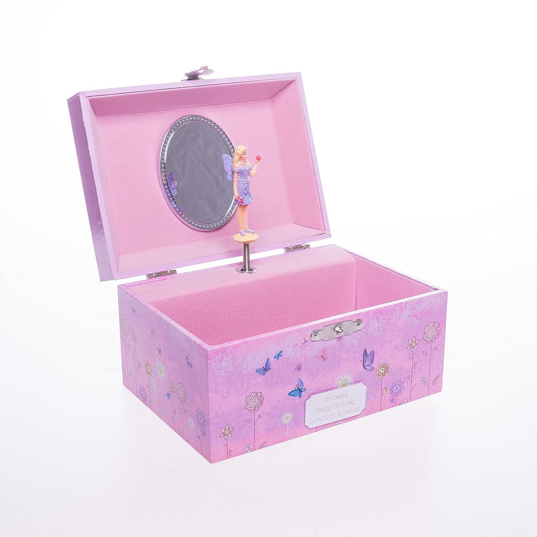Cr8 A Gift Personalised Wooden Girls PURPLE FAIRY Musical Box Gift For Christmas/Flower Girl/Christening/Birthday (1391) 1325