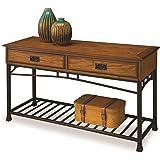 Home Styles 5050 22 Modern Craftsman Sofa Table, Distressed Oak Finish