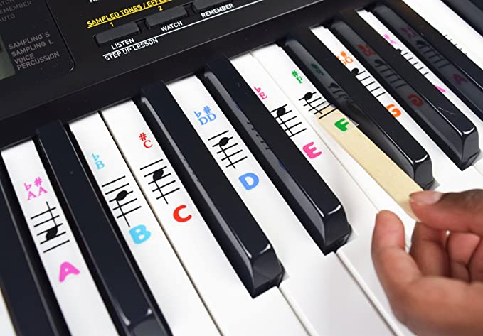 Amazon Piano And Keyboard Music Note Stickers For White Keys