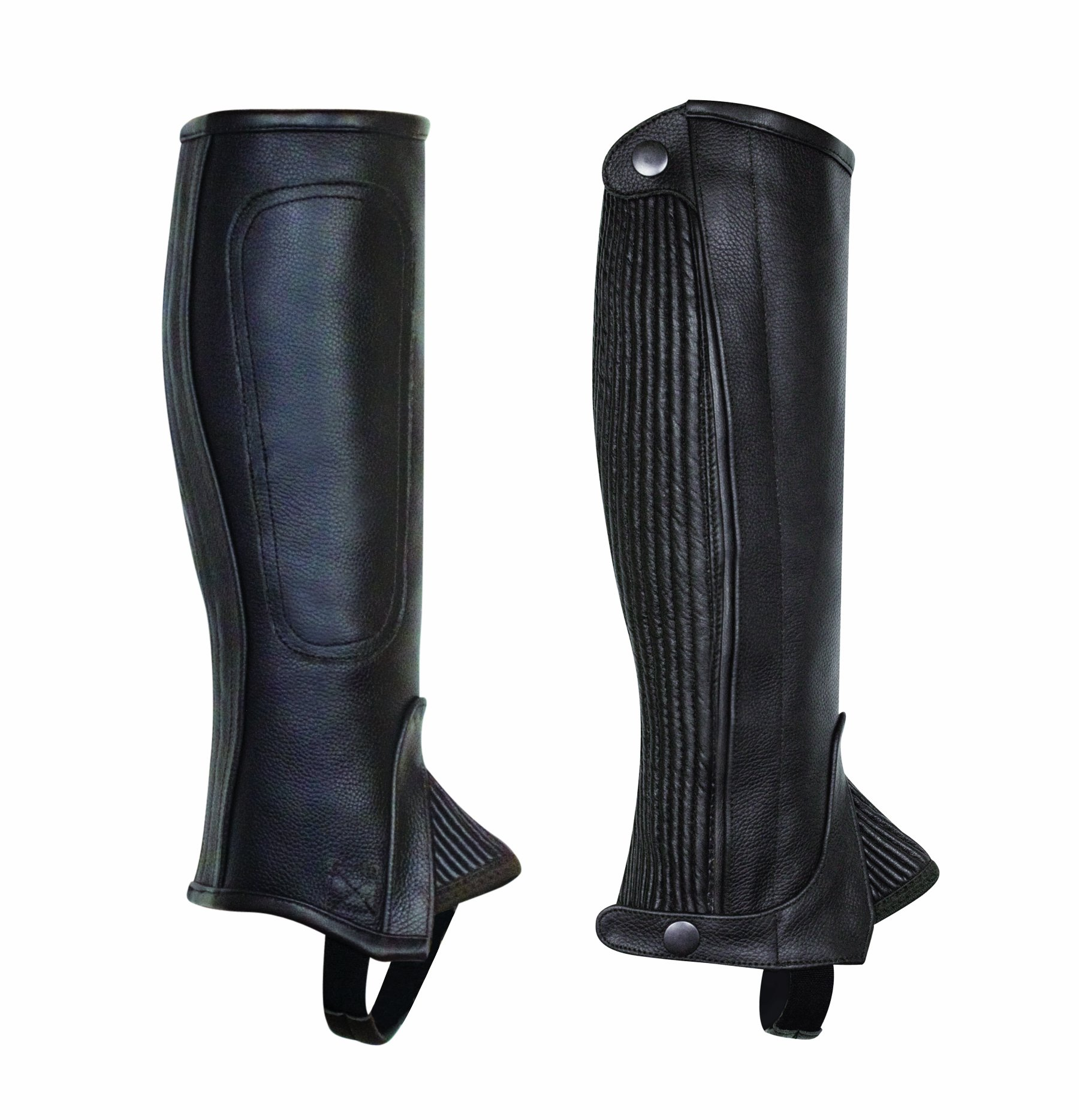 Perri's Children's Professional Half Chaps, Black, Medium