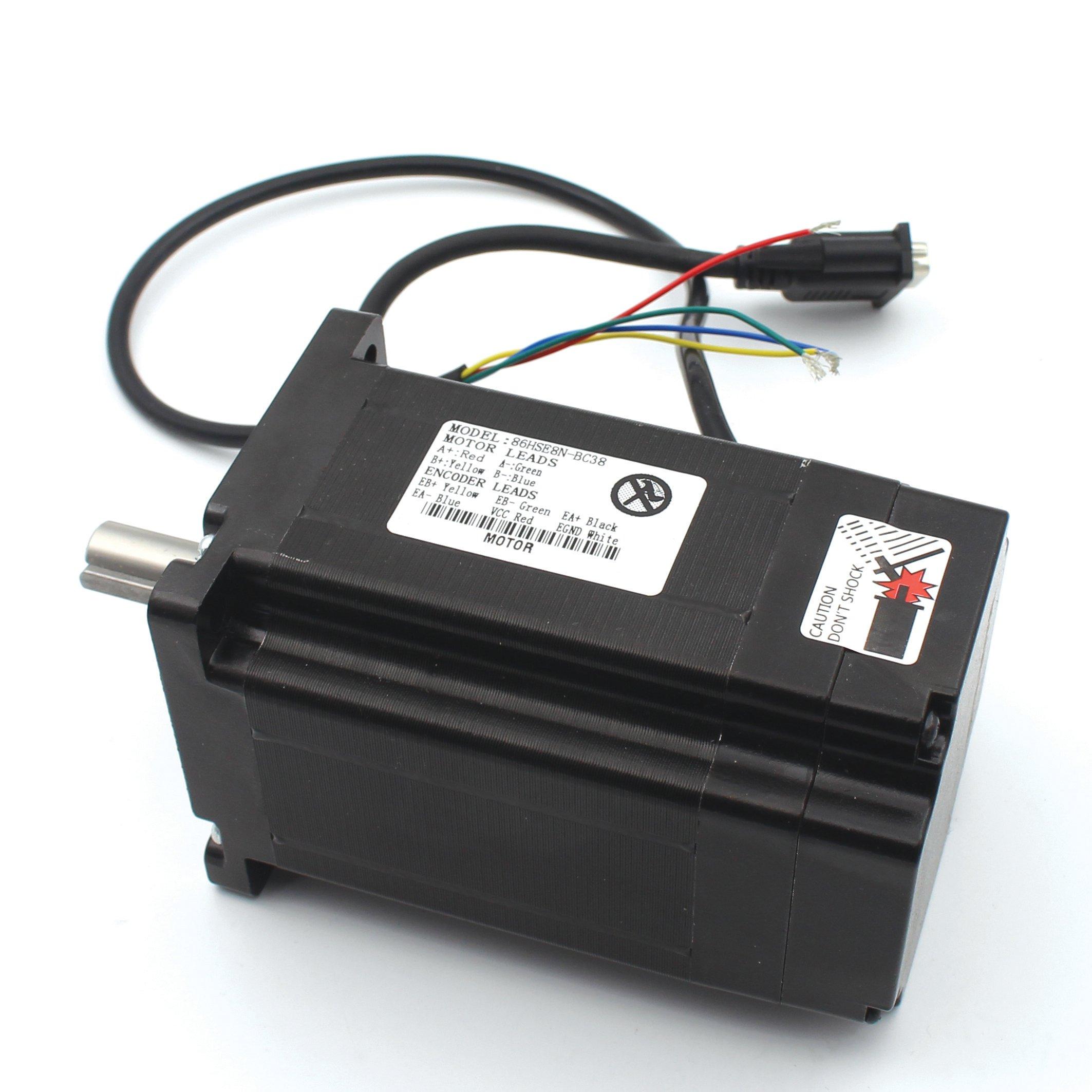 Nema34 8nm Closed Loop Stepper Servo Motor 116mm 6a 2 Phase Hss86 Controller Hybrid Driver 70v Ac 100v Dc Cnc Kit For Router Engraving