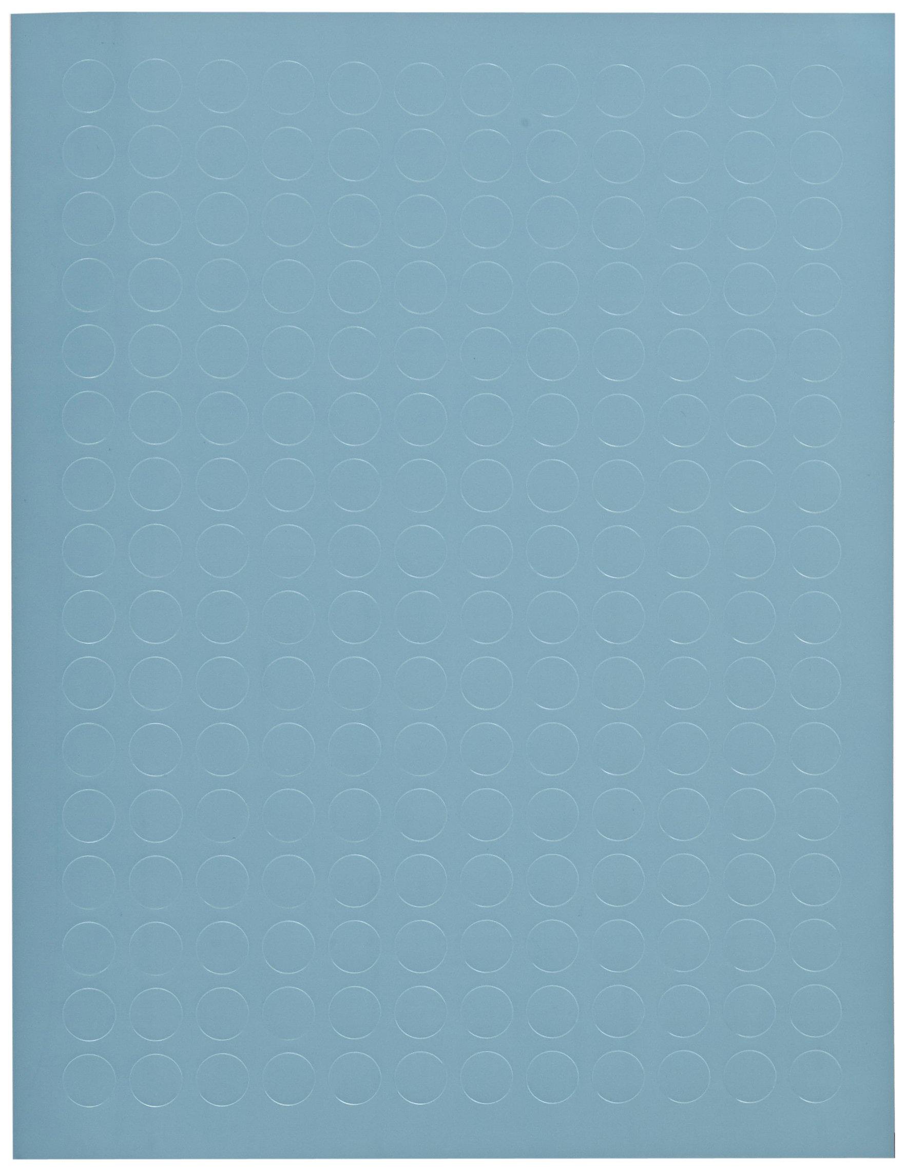 Diversified Biotech Tough-Spots SPOT-2100 Polyvinyl Laser Label, 1/2'' Diameter, Blue (Pack of 3840)