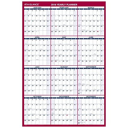 at a glance wall calendar january 2018 december 2018 48