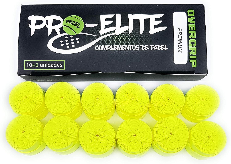 overgrips Pro Elite Premium Perforados Amarillos Fl/úor Caja 10+2 unds.