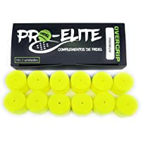 overgrips Pro Elite Premium Perforados Amarillos Flúor. Caja