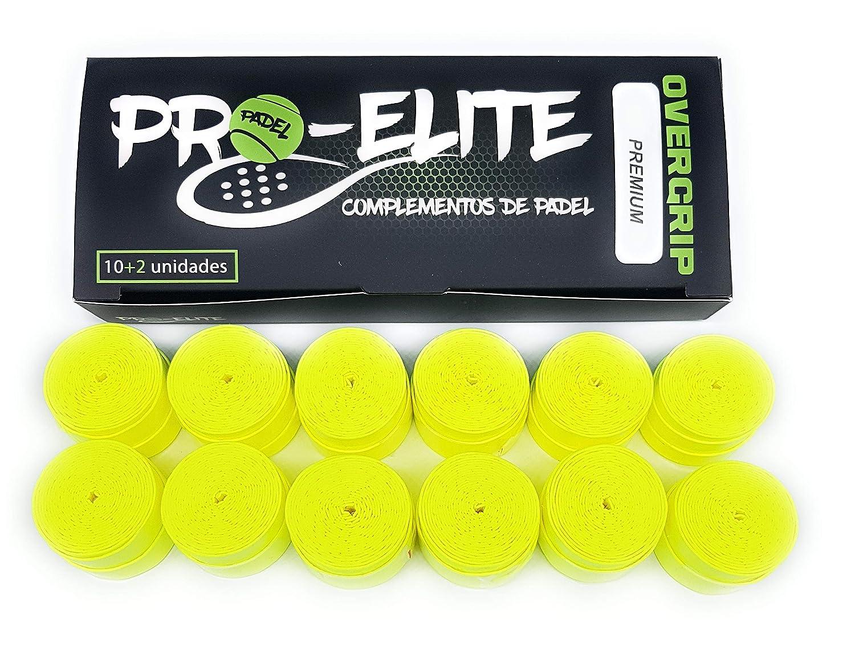 overgrips Pro Elite Premium Perforados Amarillos Flúor. Caja 10+2 ...