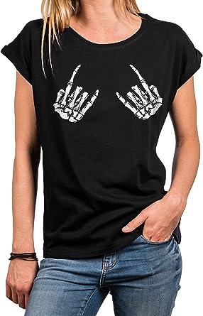 t-shirt tête de mort femme 10