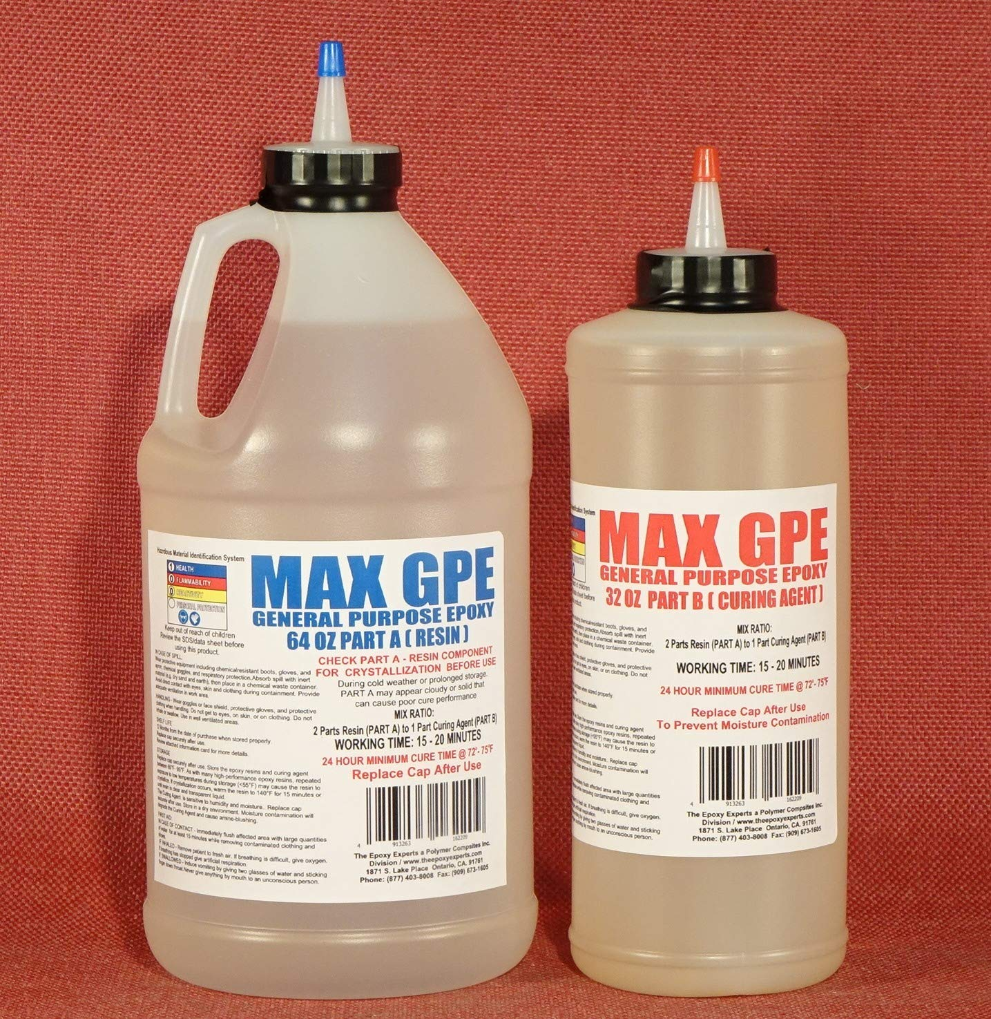MAX GPE -General Purpose Grade Epoxy Resin System - 3/4 Gallon Kit - RV Repair Panel Injectable Adhesive, Wood Sealing and Waterproofing Resin System, Low Viscosity, Long Working Time