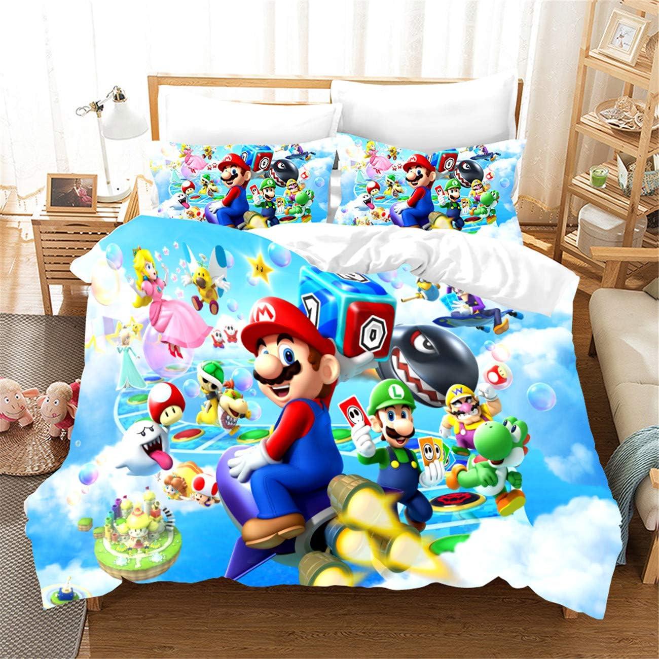 Amazon.com: AMTAN 3D Super Mario Duvet Cover Set Kids Teen Adult