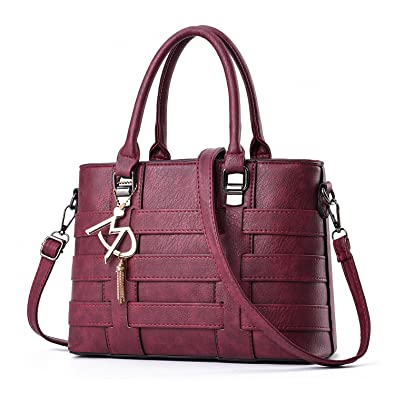 Buy Tibes Synthetic Leather Shoulder Bag Elegant Bag Party Handbag Ladies  Wine Red Online at Low Prices in India - Amazon.in 0232ed57d2bab