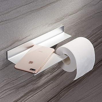 Toilettenpapierhalter WC Klorollenhalter Klopapierhalter Rollenhalter Aluminium