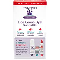 Fairy Tales Lice Good-Bye Survival Kit for Lice Treatment - Includes Treatment Mousse , Conditioning Spray, Comb, & Clip