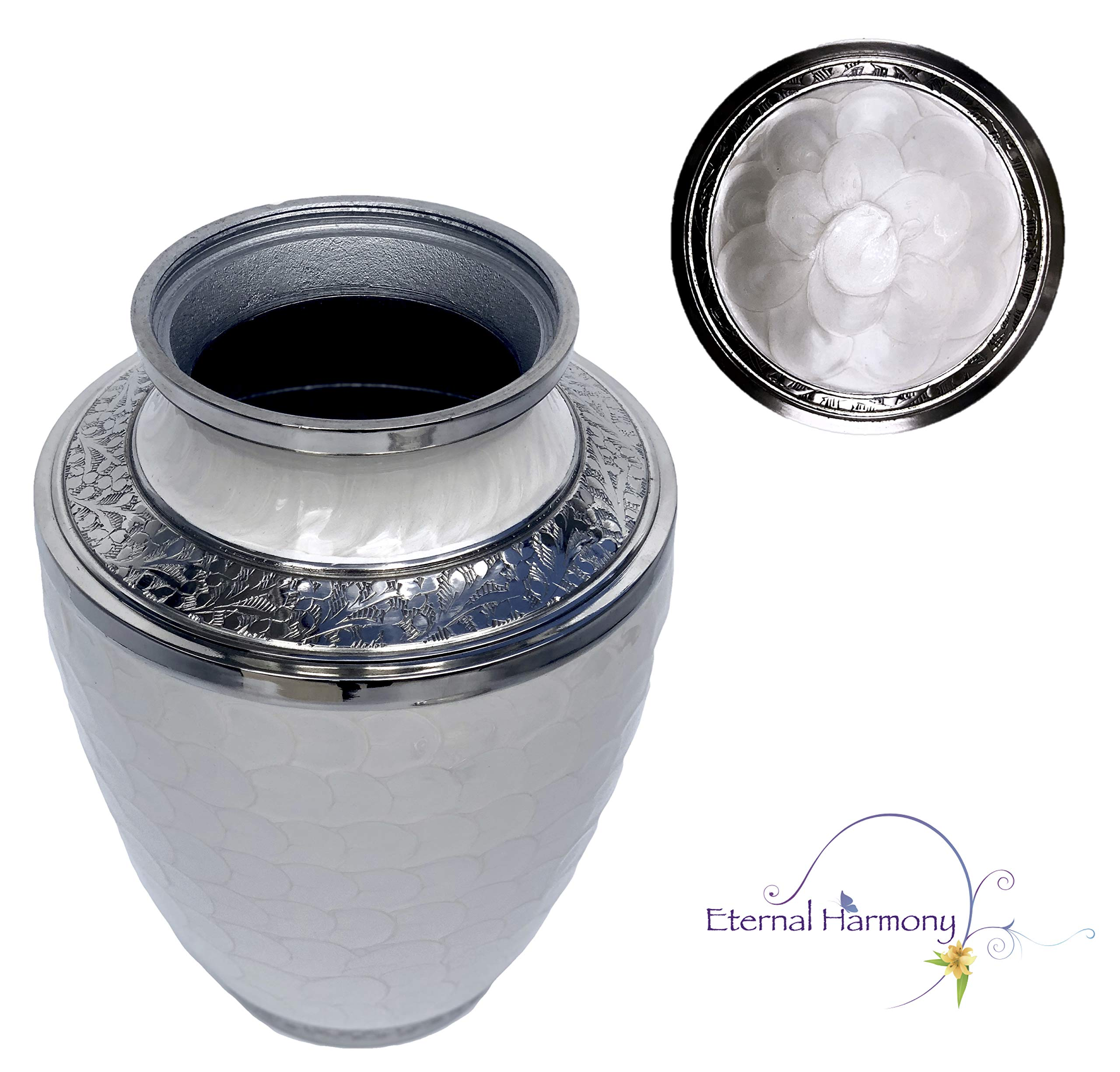 Eternal Harmony Cremation Urn for Human Ashes | Funeral Urn Carefully Handcrafted with Elegant Finishes to Honor and Remember Your Loved One | Adult Urn Large Size with Beautiful Velvet Bag by Eternal Harmony (Image #4)