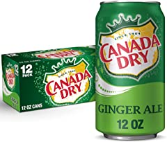 Canada Dry Ginger Ale, 12 fl oz cans (pack of 12)