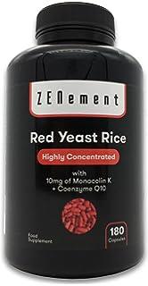 Levadura Roja de Arroz con 10 mg de Monacolina K y Coenzima Q10, 180 Cápsulas