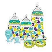 NUK Orthodontic Baby Bottle & Pacifier Gift Set, Neutral