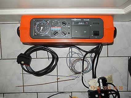 Viessmann trimatik 7410 160 regulador de calefacción + analogsc haltuhr + Sonda, testado, es