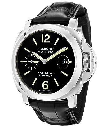 amazon com panerai luminor marina mens 44mm automatic watch panerai luminor marina mens 44mm automatic watch pam00104