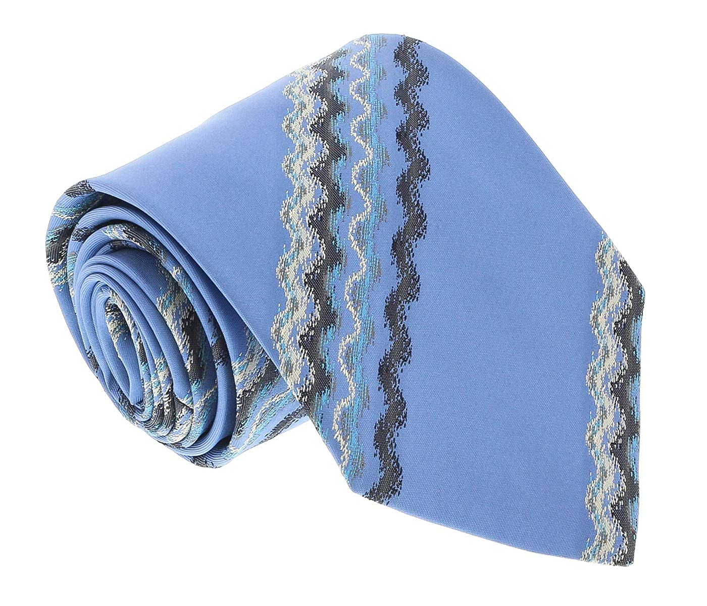 Missoni U3829 Blue Sharkskin 100/% Silk Ties for Mens