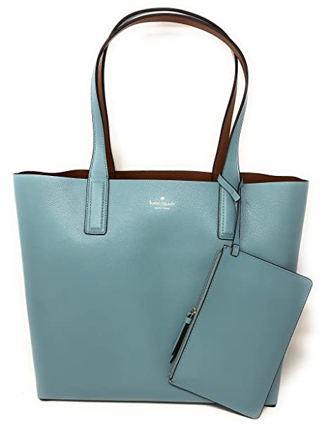good selling vivid and great in style brand quality Kate Spade Arch Reversible Leather Tote Bag With Pouch