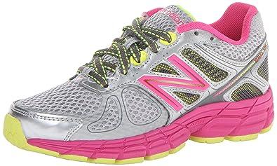 New Balance KJ880V5 Youth Running Shoe (Little Kid/Big Kid), Grey/Pink, 7 W US Big Kid