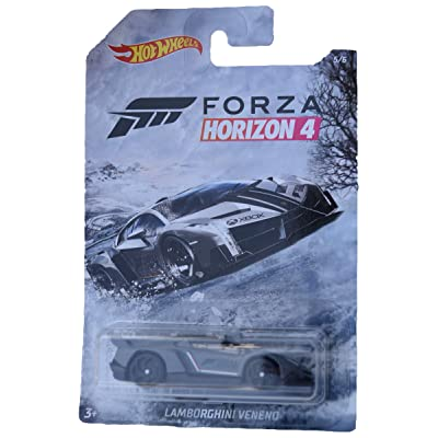 Hot Wheels Forza Horizon 4 Lamborghini Veneno 5/6, Gray: Toys & Games