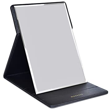 office desk mirror. Premium Portable Makeup Mirror By MODESSE (Black) | Perfect For Travel, Office Desk R