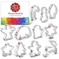 Ann Clark Cookie Cutters Christmas Cookie Cutter Set with Recipe Card - 11 Piece - Holiday Shapes Include: Snowflake…