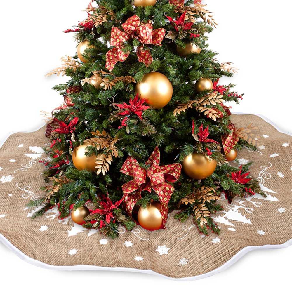 willkey Weihnachtsbaum Rock Jute Weihnachtsbaumdecke Weihnachten ...