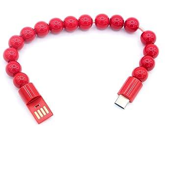 LoongGate lindo fácil de llevar cuentas pulsera cargador y ...