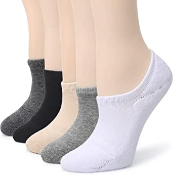 Leotruny Women's Cushion Sweat-absorbent Breathable Soft Athletic No Show Socks