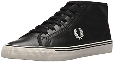 e13982c32a5 Fred Perry Haydon MID Leather Sneaker, Black, 9.5 D UK (10.5 US)