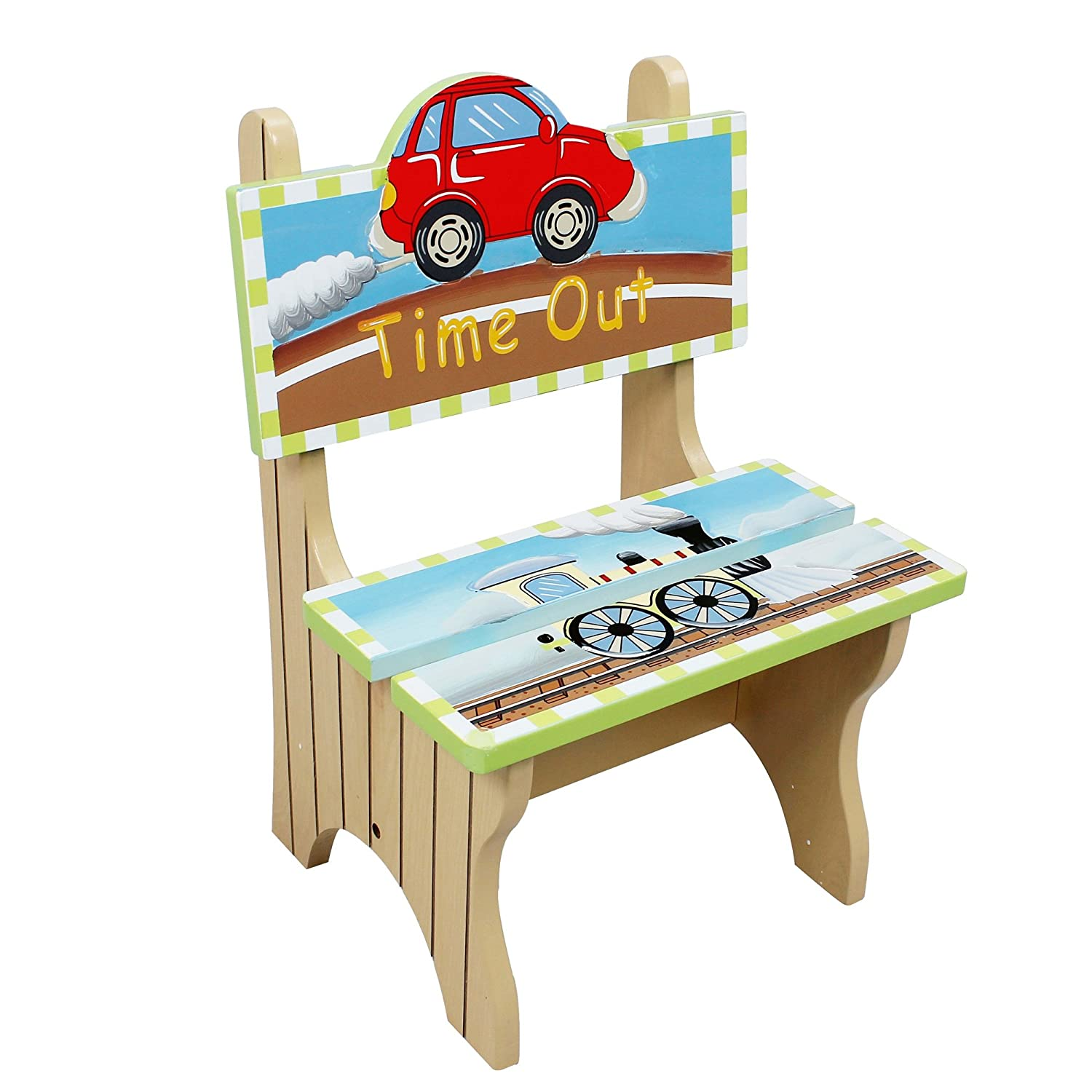 Fine Fantasy Fields Transportation Thematic Kids Time Out Chair Imagination Inspiring Hand Painted Details Non Toxic Lead Free Water Based Paint Pdpeps Interior Chair Design Pdpepsorg