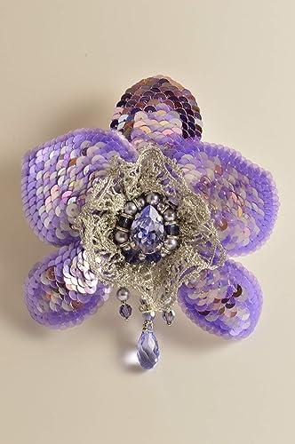 Orchid Brooch, Swarovski brooch, Handmade     - Amazon com