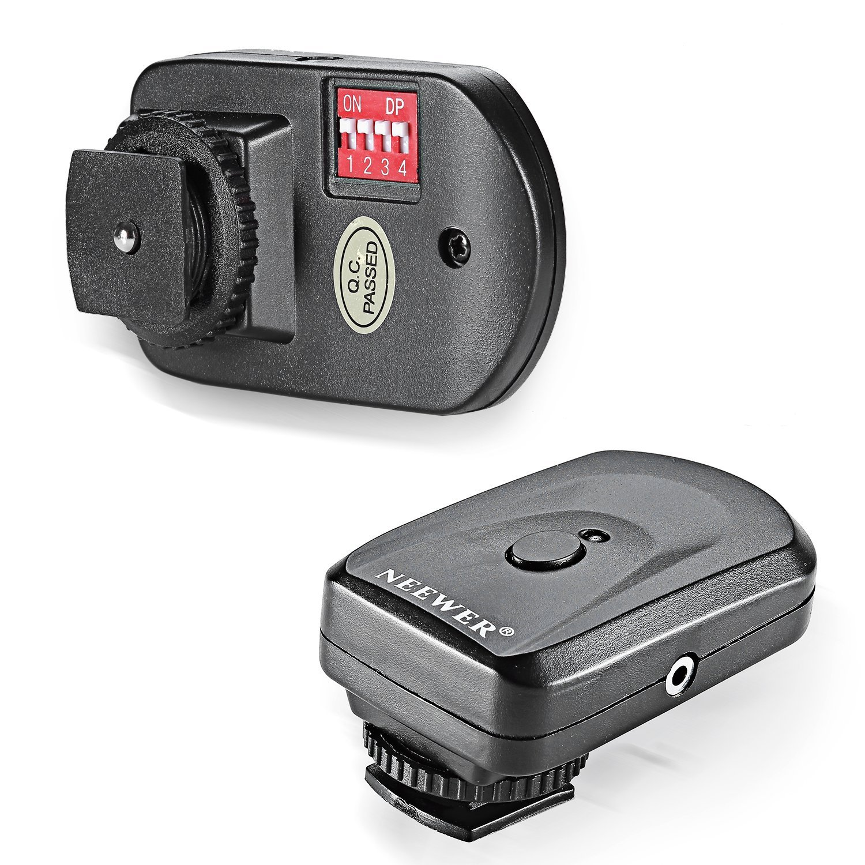 Trigger radio Speedlite FM con telecomando FM a 16 canali con ricevitore PC da 2,5 mm per unit/à flash con Hot Shoe universale Nero Neewer 10036052