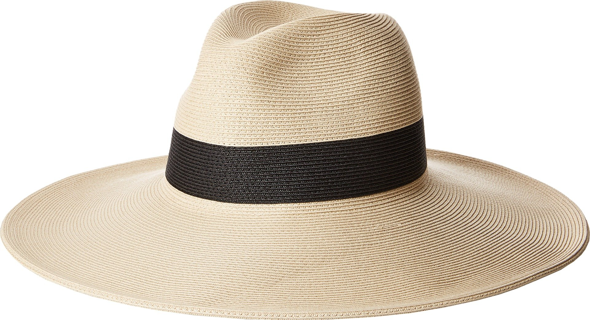 Hat Attack Women's Fine Braid Inset Continental Natural/Black One Size