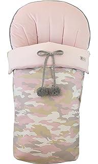 Saco funda de silla de paseo en paño rosa, pique de raya ...