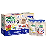 GoGo squeeZ yogurtZ, Variety Pack (Strawberry/Banana), 3 Ounce (10 Pouches), Low...
