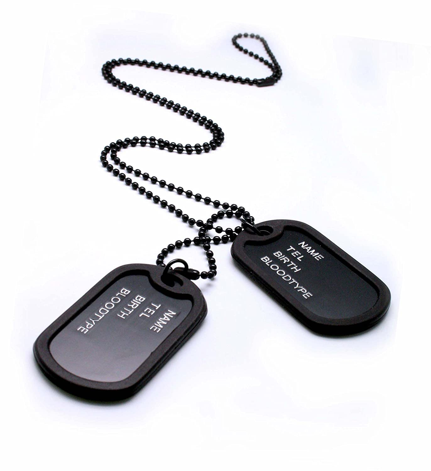 dog military amazon necklace black chain com tags dp army style mens pendant
