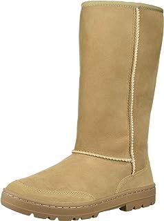 efd88cfadb1 Amazon.com | UGG Womens Ariella Luxe Diamond Boot Chestnut Size 6 ...