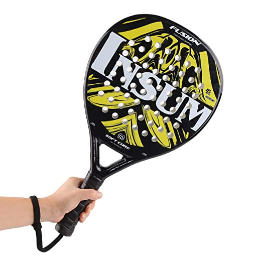 weierfu Paddle Tennis Rackets Full Carbon Fiber Pop Tennis Paddle Racket with EVA Core for Unisex Adults
